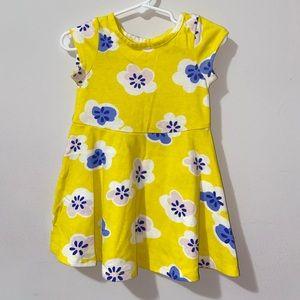 Yellow floral dress 18M